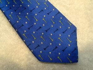 vineyard vines Golf Balls & Tees Pattern Skinny Tie NWT $85 Made in USA Blue