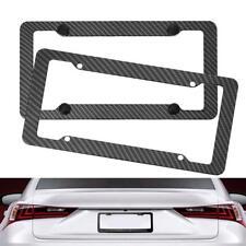 Carbon Fiber License Plate Frames Cover for Front Rear Bracket with Screws