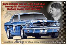 NORM BEECHEY MUSTANG NEPTUNE RACING TIN SIGN 20 x 30cm
