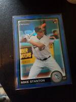 2010 Bowman Chrome Draft Mike Stanton Blue Refractor Rc Gem Mint