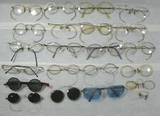 Lot of 22 Pair Antique Wire Frame Glasses Gold Fill