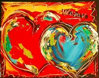 HEARTS █ IMPRESSIONISM █PAINTING█MODER​N█ORIGINAL█CANVAS█ART█unique style!