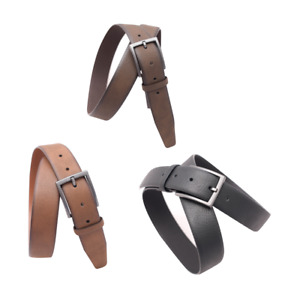 Mens Leather Trouser Belts Wide 3.5cm Matte Buckle High Quality Leather Belt New