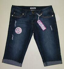Jean Shorts Bermuda True Bliss size 9  Juniors Medium Blue Jean Long C302-10
