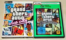 2 PC SPIELE SAMMLUNG - GTA GRAND THEFT AUTO VICE CITY & SAN ANDREAS