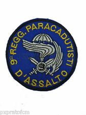 Patch Toppa 9 Col Moschin Incursori Paracadutisti Azzurro per Mimetica Vegetata