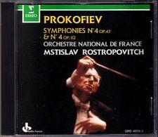 Mstislav ROSTROPOVICH: PROKOFIEV Symphony No.4 Op.47, 112 CD Sinfonie Prokofjew