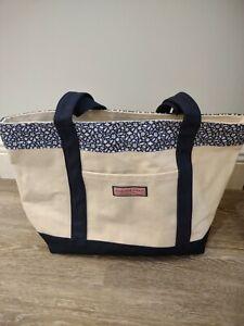"Vineyard Vines Custom Collection Tote Canvas Bag 11"" x 17"" Blue reg. 98.00 new"