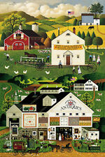 .8 Yard Cotton Fabric - Northcott Charles Wysocki Town & Country Farm Town Panel
