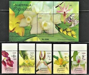 GUATEMALA 2020 NEW ISSUE ORCHIDS MINT NH  FLORA