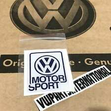 Genuine Volkswagen Motorsport Decal Dome Gel VW Golf Rallye G60 16v GTI VR6 R32