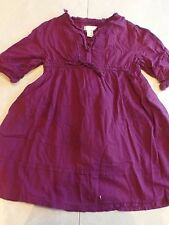 girls OLD NAVY PURPLE DRESS 3/4 sleeve PLAIN SOLID casual FALL SPRING XS size 4T