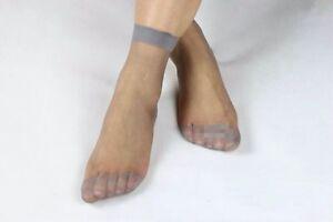 10pairs Soft Elastic Ankle Length Socks Ultra Thin Transparent Silk Stockings
