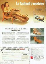 PUBLICITE ADVERTISING 116  1989  Everstyl  fauteuil Elysée Trocadéro  catalogue