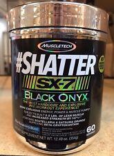 MuscleTech #Shatter SX7 Black Onyx 60 Serv Pre Workout Best By 12/2017 Free Ship