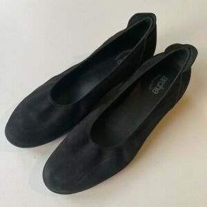 ARCHE Suede Black Pump Shoes Size 41 Made in France