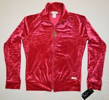 NEW Baby Phat sz Small Velour Jacket All Over Cat BP Print Red NWT Vintage 2005