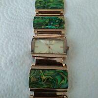 Vernier Watch Women's VNR4937 Rose Gold & Multicolor Art Deco Metal Band