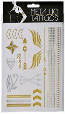 Rad Tatz Temorary Body Tattoo Art Metallic Gold Silver Waterproof Egypt Henna