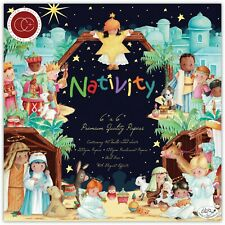 "New Craft Consortium 6"" x 6"" Paper Pad Christmas Nativity"