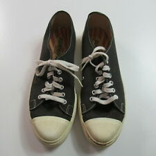 Vintage 60s Playmaker Canvas Low Top Shoes Sneakers Black Usa Made Mens 8.5