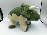 Aurora World Triceratops Green Dinosaur Plush Kids Soft Stuffed Toy Animal Doll