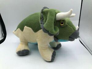 Aurora World Triceratops Green Dinosaur Plush Kids Soft Stuffed Toy Animal Doll