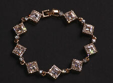 Stardust-Art Deco Cut Cubic Zirconia Wedding Tennis Bracelet(Cl34)