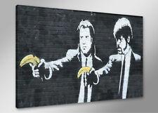 Bilder auf Leinwand banksy 80cm XXL 4171neu Alle Wandbilder fertig gerahmt