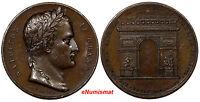 FRANCE Bronze Medal 1806 Arc de Triomphe, Louis Philippe I NAPOLEON LE GRAND