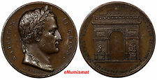 FRANCE Bronze Medal 1806 Arc de Triomphe, Louis Philippe I NAPOLEON LE GRAND