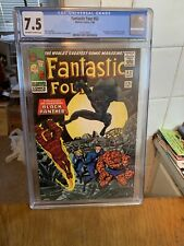 FANTASTIC FOUR Comics #52, CGC 7.5 1966 OW To WHITE PAGES 1st BLACK PANTHER