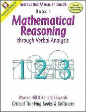 Mathematical Reasoning, Book 1  (ExLib) by Warren Hill, Ronald Edwards