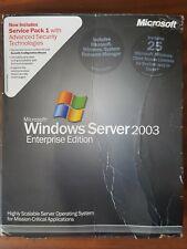 Microsoft Windows Server 2003 Enterprise w' SP1 25 CAL P72-00971