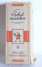 Marke Schulmädchen MEZ AG Freiburg Baumwoll Strickgarn mit Glanz Vintage mit OVP