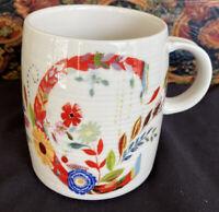 "Starla M. Halfmann Anthropologie Letter Initial Monogram ""C"" Mug Cup."