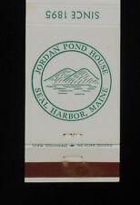 1960s Jordan Pond House Since 1895 Seal Harbor ME Hancock Co Matchbook Maine
