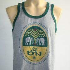 Muay Thai Elephant Beer Chang Men's Tank Top T-shirt Gray L