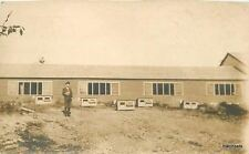 C-1910 Farming Agriculture  Chicken Poultry Shed RPPC real photo postcard 5967
