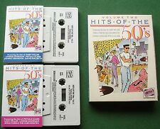 Hits of The 50s V. 2 Lonnie Donegan Pet Clark + Box Set Cassette Tape x 2 TESTED