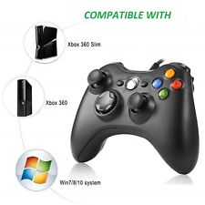 Long Wired USB Game Pad Controller For Microsoft Xbox 360 Console PC Windows 10