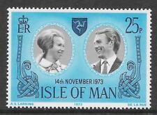 ISLE OF MAN 1973 ROYAL WEDDING 1v MNH