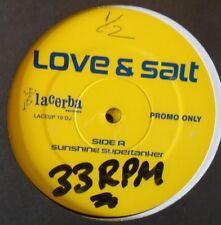 "LOVE & SALT - Sunshine Supertanker - 2 x 12"" PROMO"