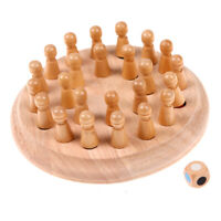 Kids Wooden Memory Match Stick Chess Game Educational Toys Gift A#S