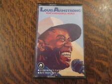 cassette audio louis armstrong what a wonderful world