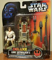 "Star Wars LUKE SKYWALKER - Desert Sport Skiff POTF 3.75""1996 MOC FREE Shipping!"