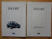 FORD ESCORT MK4 orig 1988 Belgian Mkt brochure + specs - RS Turbo XR3i Cabriolet