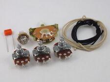 Wiring Kit for Stratocaster Large Alpha Pots Oak Grigsby & Tip + Jack socket