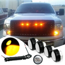 4x Raptor SVT Style Amber LED Lights Kit Front Grille DRL Fog Lamp for SUV Truck