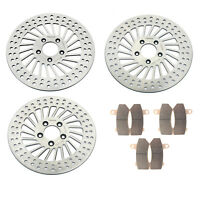 Front Rear Brake Discs Rotors Pads For FLHRC Road King Street Electra Glide FLHX